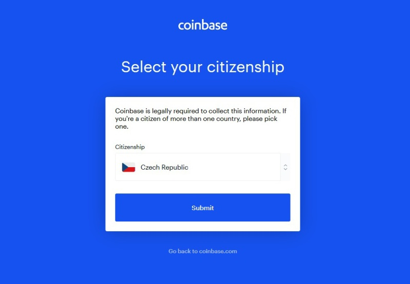 Coinbase návod 05