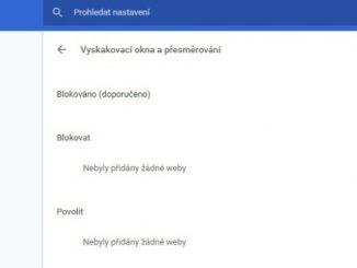 Google Chrome vyskakovací okna přesměrování