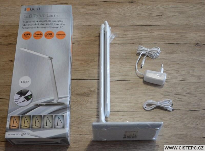 Solight WO37-W stolní dotyková led lampa 1