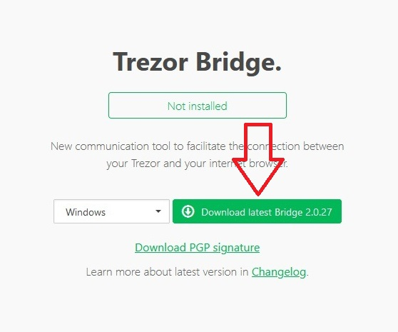 Trezor One instalace 02