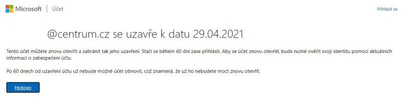 Jak zrušit účet Microsoft 05