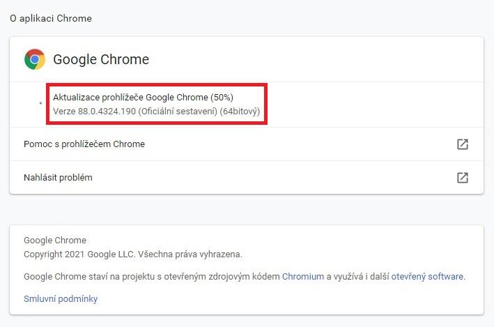 Jak aktualizovat Google Chrome 2