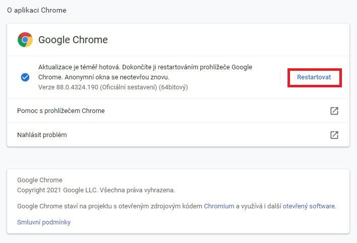 Jak aktualizovat Google Chrome 3
