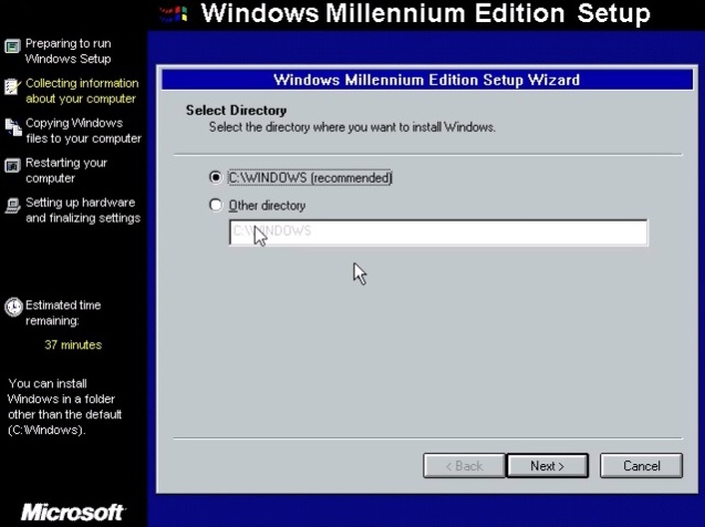 Windows ME (Millenium Edition) 7