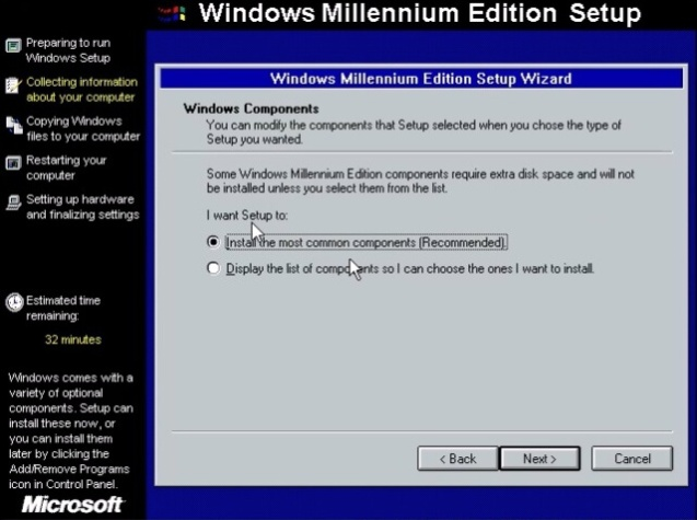Windows ME (Millenium Edition) 9
