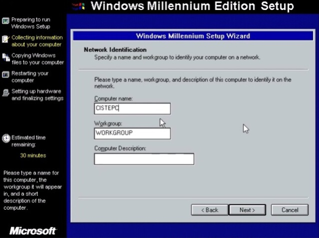 Windows ME (Millenium Edition) 10