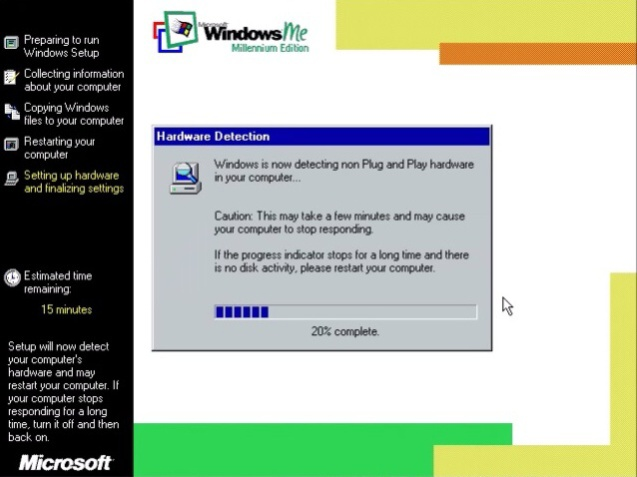 Windows ME (Millenium Edition) 15