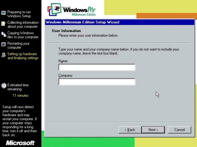 Windows ME (Millenium Edition) 16