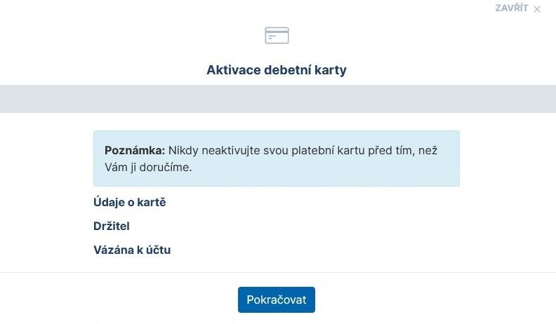 Jak aktivovat novou platební kartu České spořitelny 3