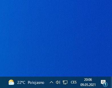 Jak vypnout počasí na hlavním panelu Windows 10
