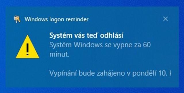 Časovač vypnutí Windows 10