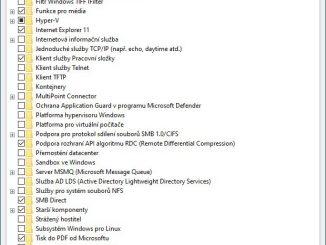 Funkce systému Windows 10