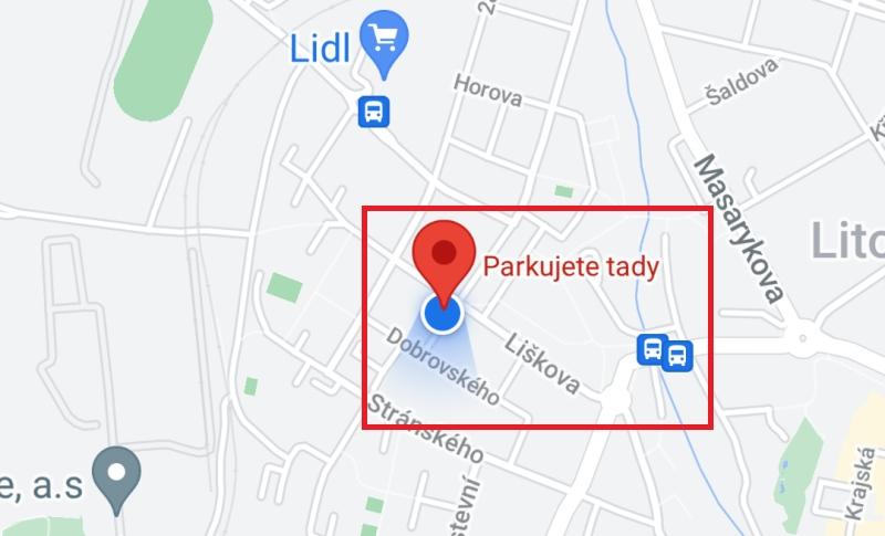 Jak uložit parkování 3