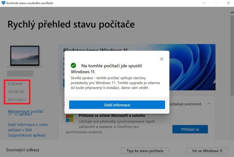 Na tomhle počítači jde spustit Windows 11