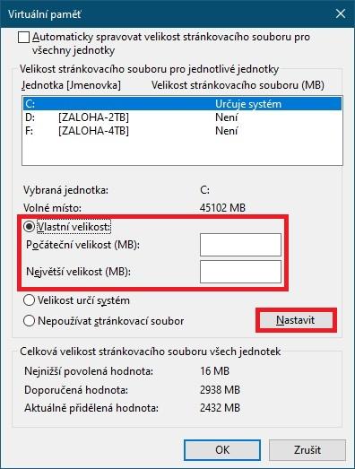 Jak nastavit virtuální paměť Windows 10 - 5