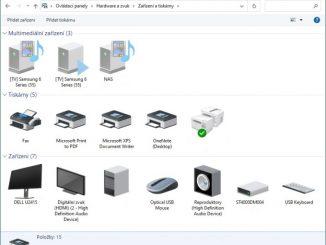 Zařízení a tiskárny Windows 10