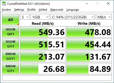 CrystalDiskMark 240GB SSD