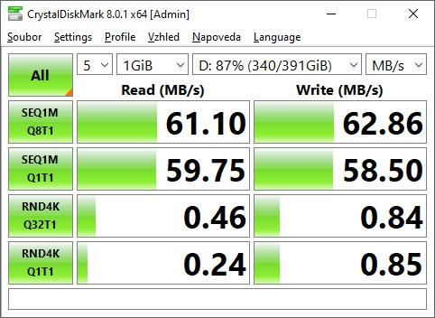 CrystalDiskMark 500GB HDD