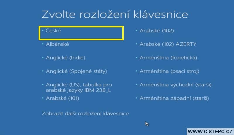 Diks pro opravu systému Windows 10 návod použití 1