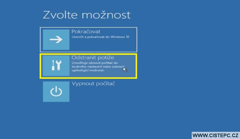 Diks pro opravu systému Windows 10 návod použití 3