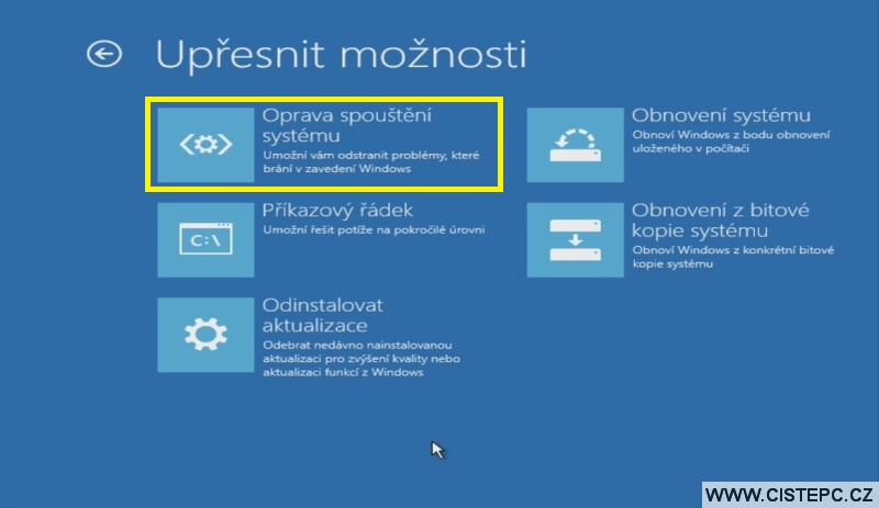 Diks pro opravu systému Windows 10 návod použití 4