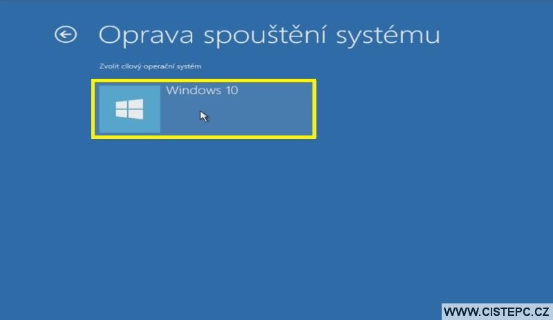 Diks pro opravu systému Windows 10 návod použití 5