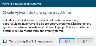 Disk pro opravu systému Windows 10