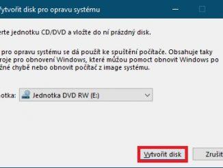 Jak vytvořit disk pro opravu systému Windows 10 - 2