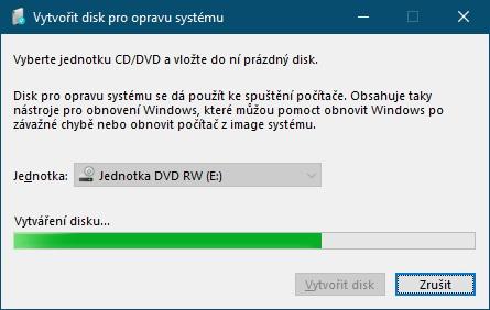 Jak vytvořit disk pro opravu systému Windows 10 - 3