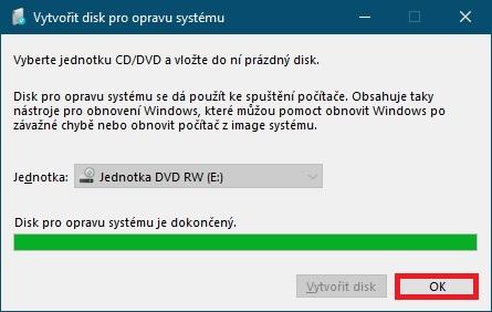Jak vytvořit disk pro opravu systému Windows 10 - 5