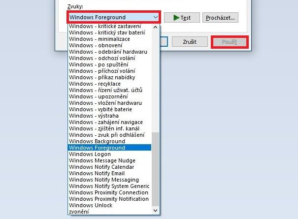 Jak změnit systémové zvuky ve Windows 10 3