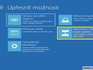 Obnovení z bitové kopie systému Windows 10 - 1