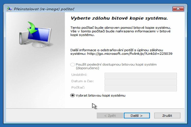 Obnovení z bitové kopie systému Windows 10 - 4