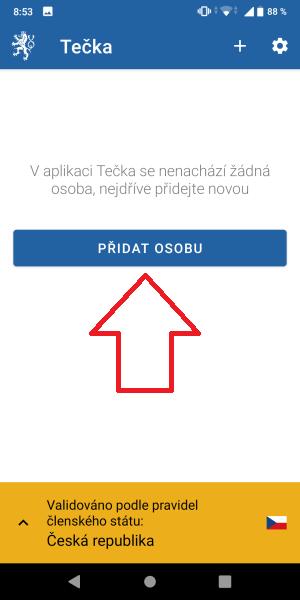 Tečka aplikace covidpass 5