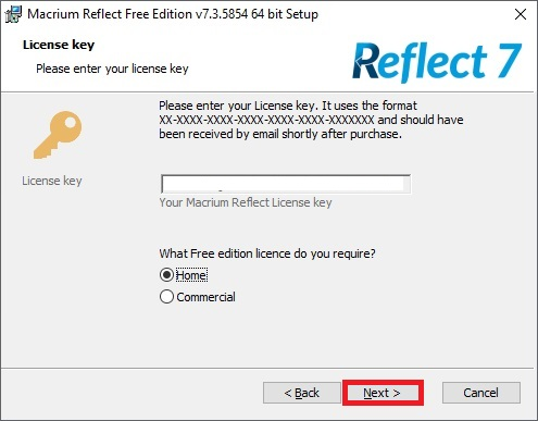 Macrium Reflect 7 free edition 09