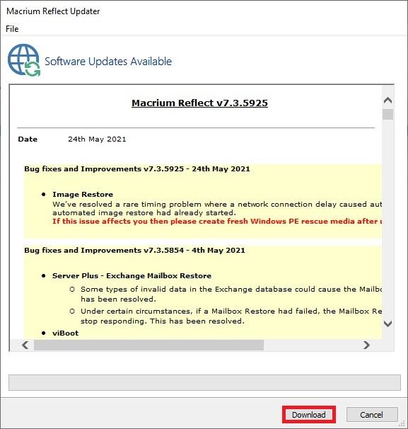 Macrium Reflect 7 free edition 13