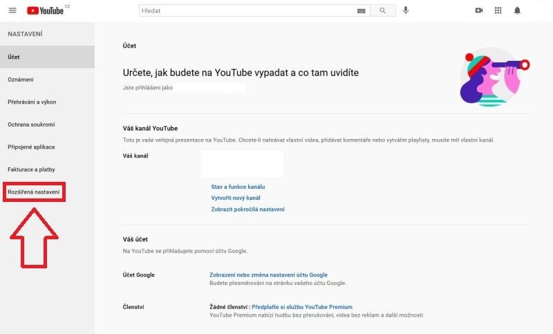 Jak odstranit Youtube účet 02
