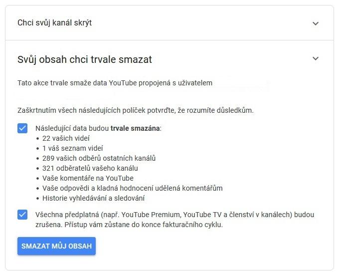 Jak odstranit Youtube účet 07
