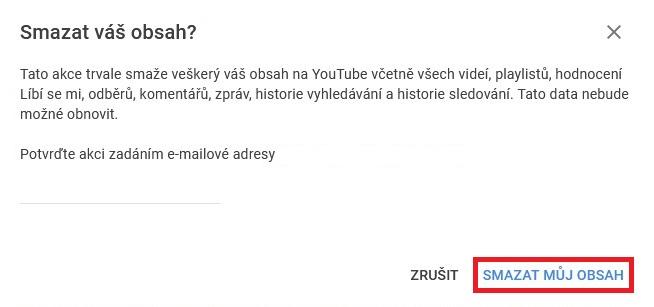Jak odstranit Youtube účet 08
