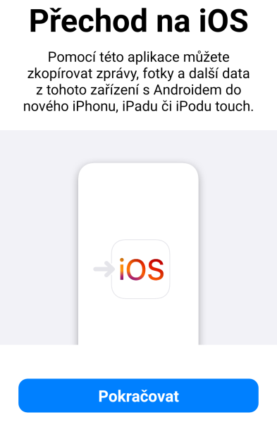 Přechod na iOS 2