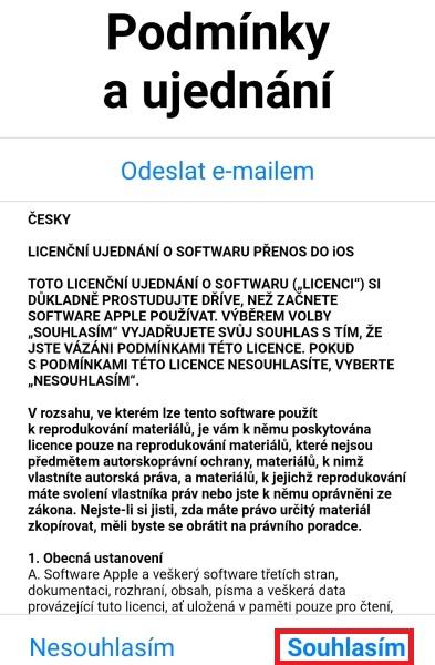 Přechod na iOS 3