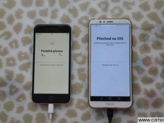Přenos dat z Androidu do iPhone