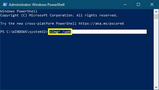 Jak odebrat licenci z Windows 10 - 05