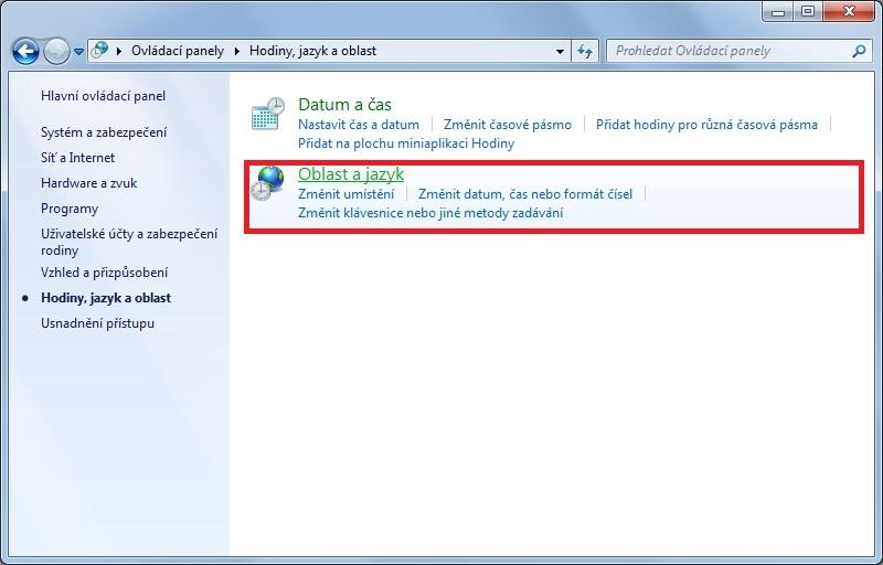 Jak změnit jazyk klávesnice Windows 7 - 2
