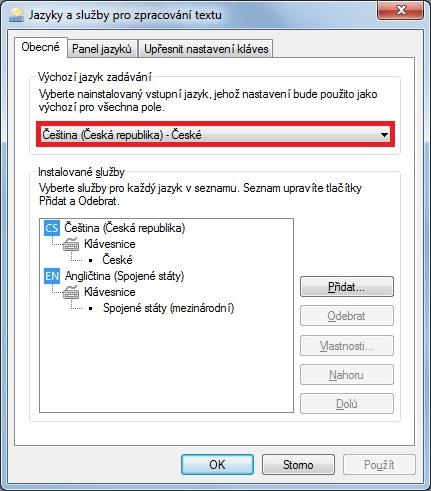 Jak změnit jazyk klávesnice Windows 7 - 4