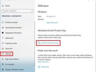 Jak změnit kód Product Key Windows 10