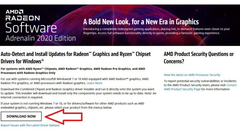 2 AMD Radeon Software Adrenalin 2020 edition